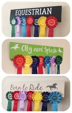 PERSONALISED Rosette Wall Hanger / Display / Holder Horse/Pony/Dog Show