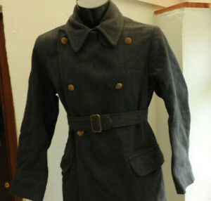 An Original WW2 Dated Military Blue Great Over Coat RAF Uniform Air Force (5241)