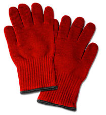 2 Extra Thick Oven Gloves - Red Heat Resistant Oven Mitt / Pot Holders
