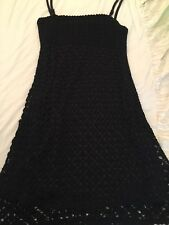Karen millen Black Crochet Dress Size 1
