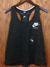 Nike Womens Heathered Charcoal Sleeveless Athletic Shirt Xl (83A8)