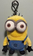 "Despicable Me Kevin Plush Minion Bag Clip 6.5"" with zip up space EUC"