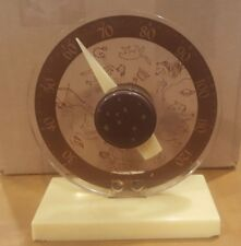VINTAGE DESK TOP ZODIAC ASTROLOGY HOROSCOPE LUCITE THERMOMETER ARIES TAURUS PISC