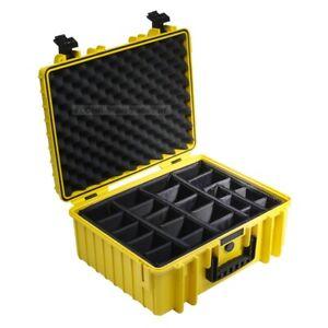 B&W Outdoor Case 6000 - mit Facheinteilung (RPD) - Schutzkoffer - gelb