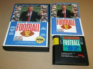 John Madden Football '92 for Sega Genesis Complete Fast Shipping!