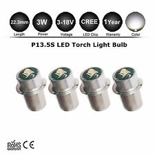 4x P13.5S 3W CREE MAGLITE LED UPGRADE FLASHLIGHT BULB 150LM 4 6 12 9V D/C Cell