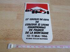 Autocollant MARLBORO - 15e COURSE DE COTE DE CORCOUE S/ LOGNE - 1986