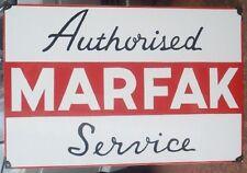 MARFAK ENAMEL SIGN (MADE TO ORDER) 900MM X 600MM  #115