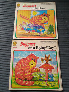 VINTAGE PICTURE LIONS FULL SET 2x BAGPUSS IN THE SUN ON A RAINY DAY 1ST EDITIONS