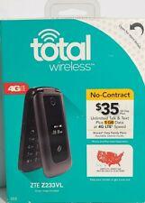 New In Box Total Wireless ZTE Z233VL 4G LTE 4GB Memory Cell Flip Phone