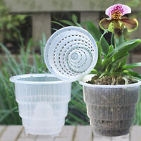 Small Medium Orchid Clear Flower Pot Resin Planter Container Home Garden Decor