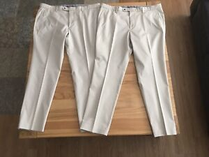 Mens Marks And Spencer Stone Stretch Chinos Size 40/31 ( Two Pairs)