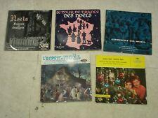 NOËL Chants- Musiques- Lot de 5x25cm (vinyls)