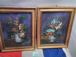 2 X Rossi Oil Painting Floral Paintings