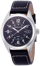 Orologio da polso Uomo Hamilton H68551733 Cinturino in Pelle Nero Khaki