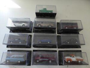 Lot de 10 voitures miniatures Chevrolet 1/43 SALVAT Diecast BOITES CASSEES CB5
