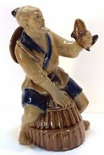 "Chinese Wanjiang Shekwan Mudman 7"" Fisherman Figure Vintage Asian Collectable"