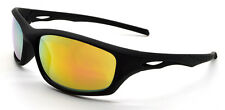 Mohawk BEAR Antislip Coated Sports Cycling Sunglasses Black & Mirror Lens Y136