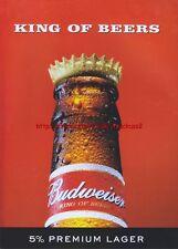 "Budweiser ""King Of Beers"" Magazine Advert #496"