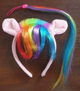 Pony Ears Headband & Tail with Fringe Fancy Dress Costume Set Kids Unisex Outfit