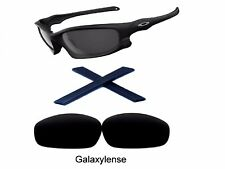 Galaxy Replacement Lenses + Rubber Kits For Oakley Split Jacket Black