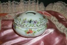 Nippon Hand Painted Hair Receiver Chic Moriage Floral Shabby Vintage