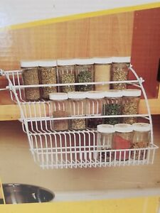 Rubbermaid Pull Down Spice Rack New in box! Holds approximately 28 spices!!