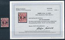 Danzig 6 Mark Wappen Dienstmarke 1922 Michel 26 b Befund (S14483)