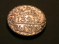1321 Morocco 1 Dirham Choice XF Lustrous Nice Tone Moroccan Arabic Silver Coin