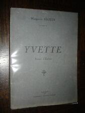 YVETTE - Scènes d'Enfant - Marguerite Séguin 1927