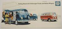 1950's Volkswagen VW Trucks Vans Bus Station Wagon Dealership Sales Brochure Vtg
