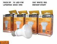 10 X ECOLA 11W  LED  R63  E27 Reflectors Light Bulb DAY  WHITE Lifespan 30000hrs