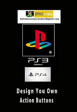 Design Your Own PS3 or PS4 Action Buttons (Square, Triangle, Circle & X Buttons)