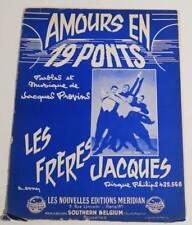 Partition sheet music LES FRERES JACQUES : Amours en 19 Ponts * 60's