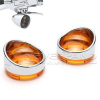 Paar Blinkergläser Blinker Abdeckung Für Harley Softail Dyna Sportster Orange