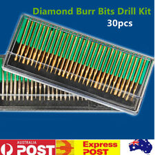 30pcs Diamond Burr Bits Drill Kit For For Engraving Carving Dremel Rotary Tool