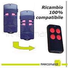 Telecomando radiocomando compatibile Came TOP432M TOP434M tasti rosa 433 Mhz