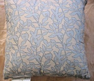"""20"""" x 20""""~Decorative PILLOW~Blue leaves/ Silver grey~ 200TC~100% cotton~2 sided"""