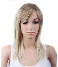 CHJF10537 bangs style women Wig long dark blonde mixed health straight hair wigs