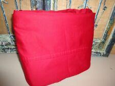 TOMMY HILFIGER CARDINAL RED QUEEN FLAT SHEET COTTON BLEND NEW BOYS 90 X 102