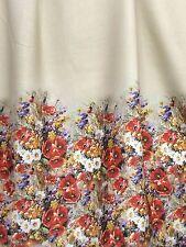 Linen fabric Poppies - Handkerchief linen - Apparel Dress fabric - By the Mtr