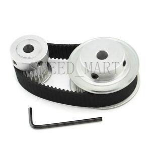 HTD3M 48T 24T Belt Width 15mm Timing Pulley Belt set kit Reduction Ratio 2:1