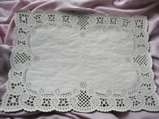 20 pcs ❤Elegant Wedding Event White Lace Paper Placemat  NORMANY Floral Scrolls