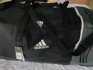 Adidas black/grey casual Sports Gym Football Training Bag Holdall
