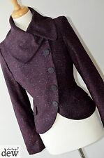 KALIKO PURPLE tweed VICTORIAN 1940's 30's RIDING JACKET gothic pin up 10 12