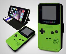 Quirky Gadget Retro Nintendo Game Boy Color Verde de Cuero a presión Funda Protectora De Teléfono