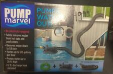 Pump Marvel Water remover from Tubs Pools 575 Gallons hr 12ft hose down to 1/8in