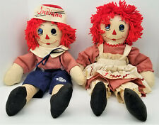 Rare Vintage Raggedy Ann and Andy Dolls - Indiana University - IU