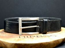 Saddler Vintage Mens Leather Jeans Belt Black Size 36