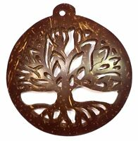 😏 Großer Weltenbaum / Lebensbaum Anhänger / Amulett aus KOKOSNUSS  6 cm 😉